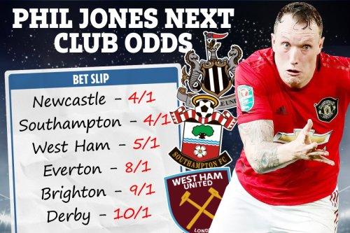 Phil Jones next club - West Ham trail Newcastle & Southampton for Man Utd ace