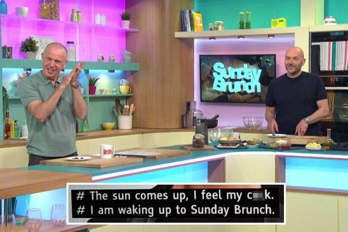 Sunday Brunch viewers shocked at VERY rude subtitle blunder that put penises in the show's theme song