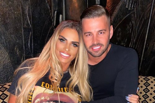 Katie Price posts gushing tribute to fiancé Carl on their first anniversary