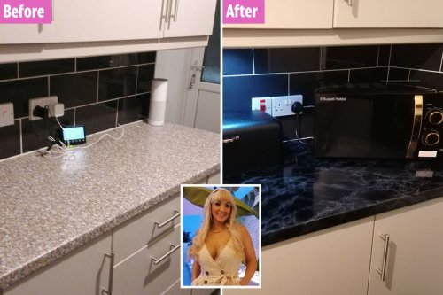 DIY fanatic quoted £500 for new worktops gives hers a makeover for just £21