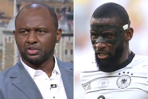 Vieira says Toni Rudiger 'not the smartest' and claims Germany can't rely on him