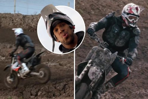 Watch Anthony Joshua tear up a dirtbike track before Oleksadr Usyk bout