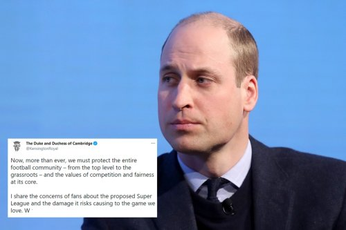 Prince William blasts 'damage' Super League would cause to football