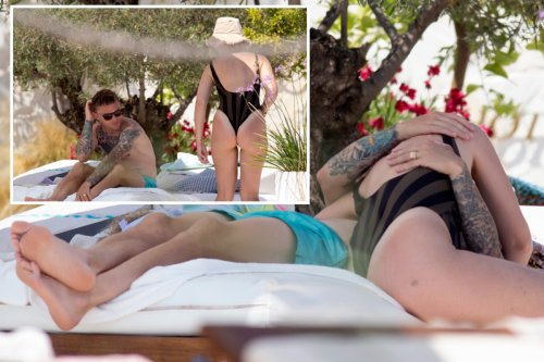 Trippier kisses wife in Ibiza as he takes deserved holiday after Euro 2020 final