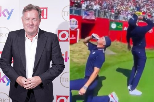 Piers Morgan brands USA stars Thomas and Berger 'cocky American beer-guzzlers'