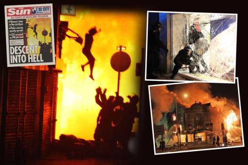 I kept photo of fire jump during London riots to remind me I'm lucky to be alive