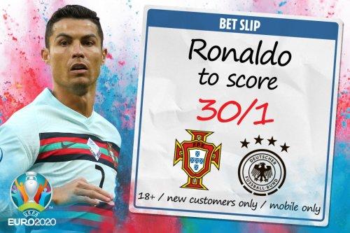 Euro 2020 - Portugal vs Germany: 30/1 odds for Cristiano Ronaldo to score