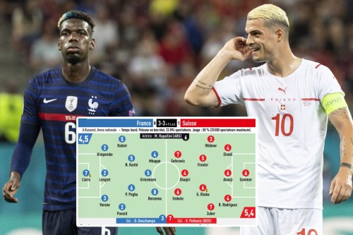 Pogba and Xhaka given just 6/10 ratings by notoriously tough L'Equipe
