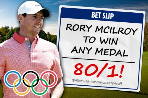 Get Irish golf star Rory McIlroy to win ANY Olympic medal at 80/1