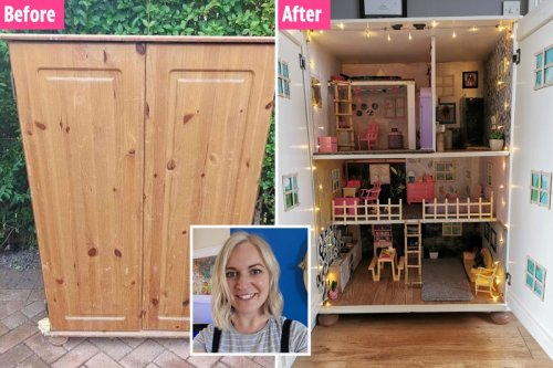 I made my daughter's dream Barbie house myself for just £20 using rubbish