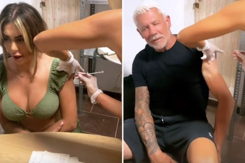 Wayne Lineker & Chloe Ferry get vitamin injections before carrying on the party
