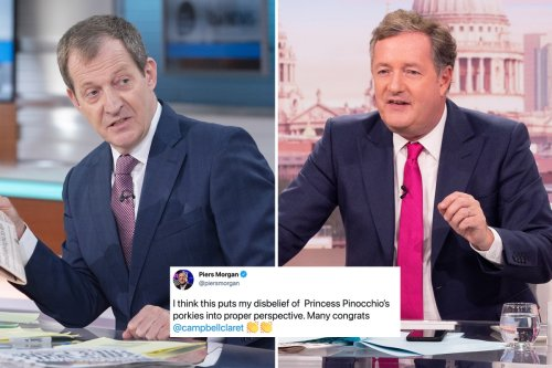 Piers Morgan taunts his GMB replacement Alastair Campbell after he accidentally announced the Queen had died