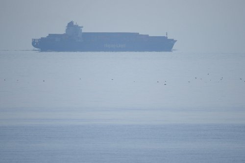 Ship HOVERS off the coast of Kent - but it's not what you think