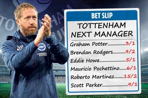 Tottenham next manager odds: Brighton's Graham Potter favourite for Spurs job
