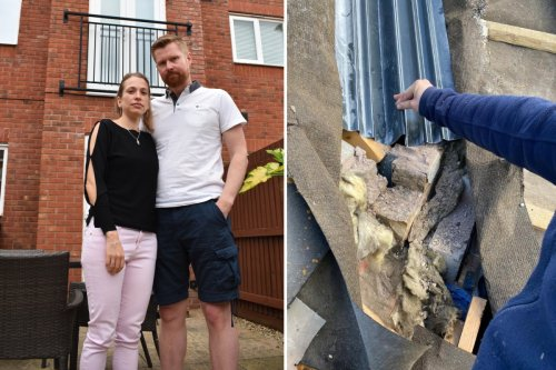 Couple's dream home built with a HOLE in the roof - & they're hit with £8k bill