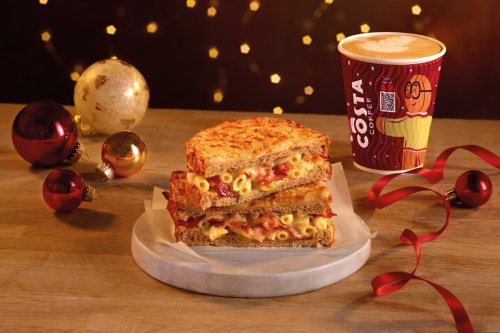 Costa's Christmas menu includes pigs in blankets panini and Quality Street latte