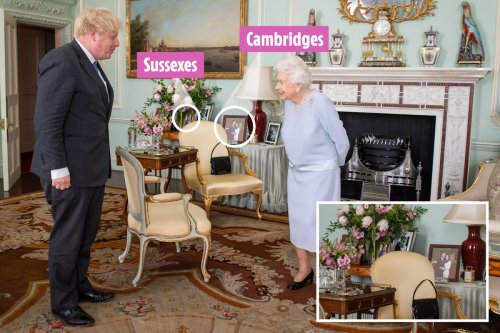 Queen's Kate & Wills' photo pride of place while Meghan & Harry are 'hidden'
