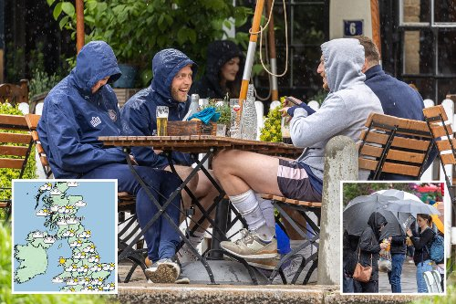 Thunderstorms to hit just as Brits can meet pals in pubs and homes tomorrow