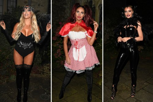 Towie girls Amy Childs, Chloe Sims and Amber Turner glam up for sexy Halloween special