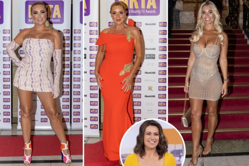 Susanna Reid scoops gong at National Reality TV Awards as stars hit the red carpet