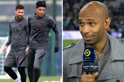 Messi is 'isolated' at PSG who remain 'Kylian Mbappe's team', says Thierry Henry
