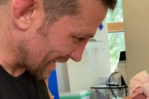 Alex Reid shares sweet video with newborn daughter as she returns home with his fiancee
