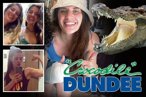 I punched crocodile on the nose to save twin sister… call me Crocodile Dundee
