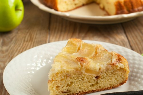 Whip up a sticky caramel apple upside down cake with this super-simple recipe