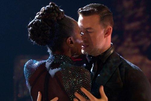 Strictly's AJ Odudu 'dating' pro Kai Widdrington after 'near kiss' on show