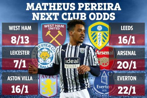 Matheus Pereira next club odds - West Ham favourites to clinch £25m transfer