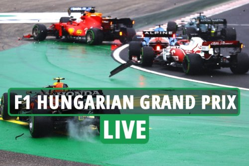 F1 Hungarian Grand Prix LIVE RESULTS: Hamilton leads with race red flagged as Bottas crashes into both Red Bulls