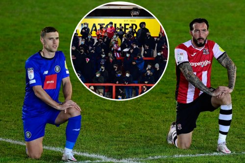 Exeter and Cambridge fans boo teams taking knee with Grecians supporter ejected