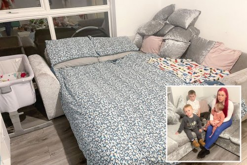 Family forced to sleep on sofa with kids for 2 YEARS beg council for help
