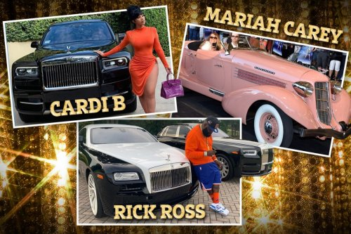 Rick Ross and Cardi B among stars who have car collections - but can't drive