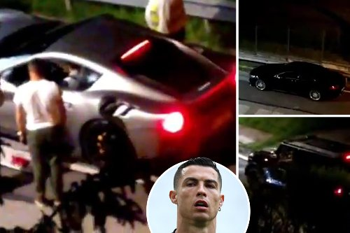 Ronaldo fuels Juve exit talk after £17m fleet of supercars are loaded onto lorry