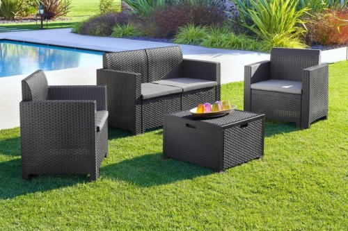 Home Bargains is selling a stylish four piece rattan furniture set for £200