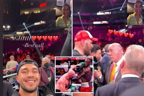 Molly-Mae 'beyond happy' after Tyson Fury win as Tommy video calls her