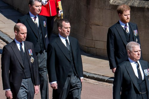 Prince William 'requested Peter Phillips stand between him & Harry' at funeral