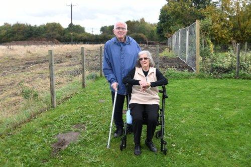 Couple battle to stop developer taking 10ft of garden land for housing estate