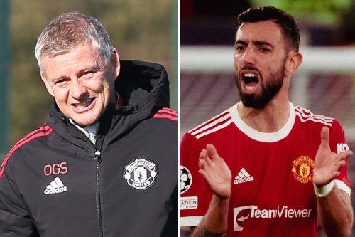 Bruno Fernandes takes dig at Man Utd boss Solskjaer and coaching staff