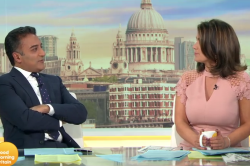 Adil Ray flirts with Susanna Reid on Good Morning Britain as she's forced to tell viewers 'we're not dating'