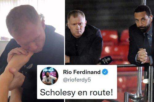Ferdinand mocks Scholes after Utd legend was caught biting daughter's toenails