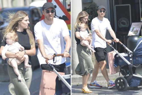 Cristian Eriksen spotted with girlfriend and daughter as he enjoys family time