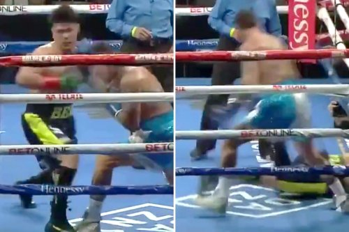 Watch Rosado knock unbeaten Melikuziev out cold with stunning right hook