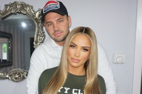 Katie Price's fiance Carl Woods hits back after being slammed by fan and insists 'I look after her really well'