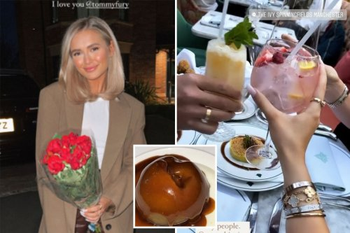 Molly-Mae Hague breaks clean eating diet for chocolate bombe with Tommy Fury