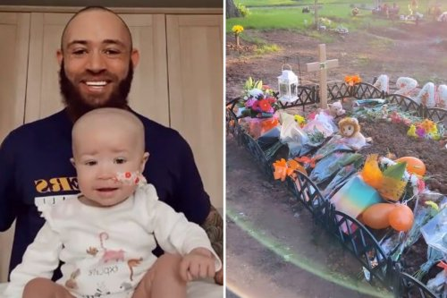 Ashley Cain vows to visit Azaylia's grave every day as Safiyya shows flowers