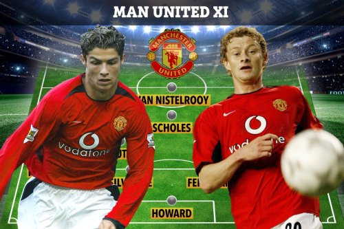 Where are Cristiano Ronaldo's Man Utd team-mates from 2003 debut? From Djemba-Djemba... to the club's current manager