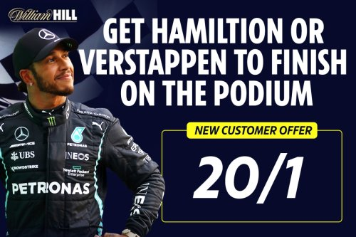 US GP - F1 offer: Get Hamilton or Verstappen at 20/1 to finish in the top three