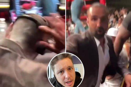TikTok star Corey B throws CHALK in face of Paulie Malignaggi while ringside